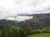 die Wolken hngen am Freitag Abend in den Bergen
