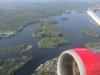 Abflug von TXL...immer wieder beeindruckend das viele Wasser
