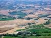 Blick von Montalcino auf Caparzo & Co.